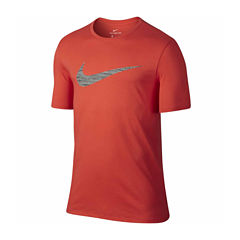 Nike Dfct Swoosh Heather Short Sleeve Crew Neck T-Shirt