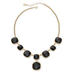 Monet® Gold-Tone Jet Black Y Necklace