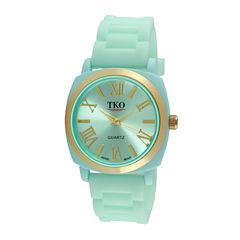 TKO ORLOGI Milano III Womens Mint Silicone Strap Watch