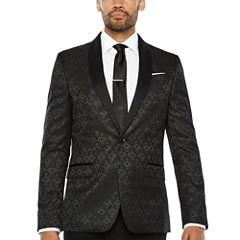 JF J.Ferrar Slim Fit Woven Diamond Sport Coat - Slim