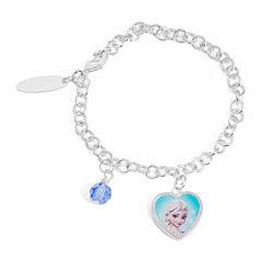 Disney Elsa Brass Heart Charm Bracelet