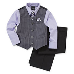 4-pc. Satin Striped Vest Set - Toddler Boys 2t-5t