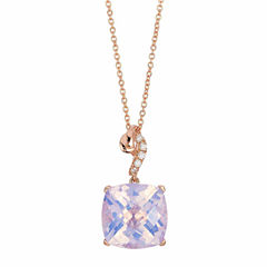 Grand Sample Sale™ by Le Vian® Lavender Quartz & Vanilla Diamonds® Accent in 14k Strawberry Gold® Pendant Necklace