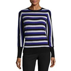 Worthington Long Sleeve Crew Neck Pullover Sweater
