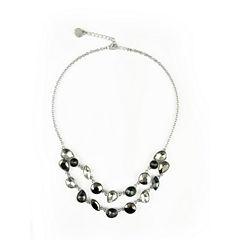 Liz Claiborne Womens Clear Collar Necklace