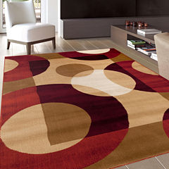 Alpine Circles Rectangular Rug