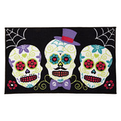 JCPenney Home™ Sugar Skull Rectangular Rug