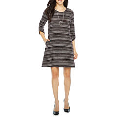 Alyx 3/4 Sleeve Fit & Flare Dress