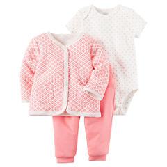 Carter's 3-pc. Grid Pant Set Baby Girls