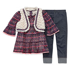 Arizona 3-pc. Legging Set-Toddler Girls