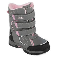 Totes Harper Girls Water Resistant Winter Boots - Little Kids/Big Kids