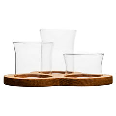 Sagaform Oak Glass 4-pc. Serving Set