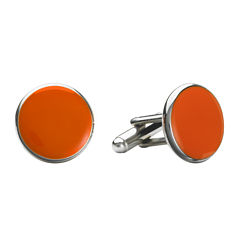 Round Enamel Inlay Cuff Links