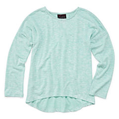 Miss Chievous Solid Long Sleeve Shirt - Girls' 7-16