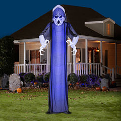 Giant Frightened Ghost Airblown with Short CircuitBlue Projection Lights
