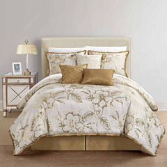 Home Expressions Gold Reversible 7-pc. Comforter Set & Accessories