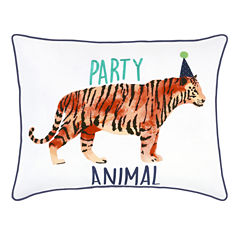Frank And Lulu Party Animal Rectangular Throw Pillow
