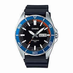 Casio Mens Black Strap Watch-Mtd120-1a
