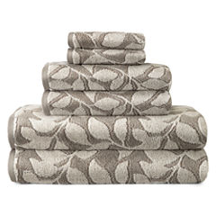 JCPenney Home Jacquard Leaves 6-pc. Towel Set