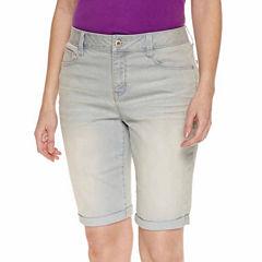 St. John's Bay Denim Shorts-Talls