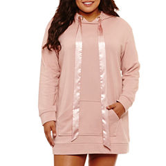 Flirtitude Sweatshirt Dress- Juniors Plus