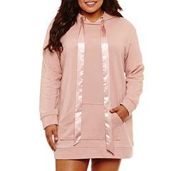 Flirtitude Sweatshirt Dress- Juniors Plus