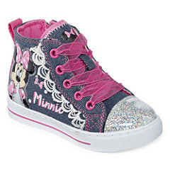 Disney Minnie High Top Girls Sneakers - Toddler