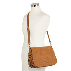 Louis Cardy Woven Gusset Large Messenger Crossbody Bag