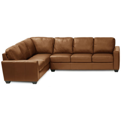 Leather Possibilities Track Arm 2pc Left Arm Corner Sofa Sectional