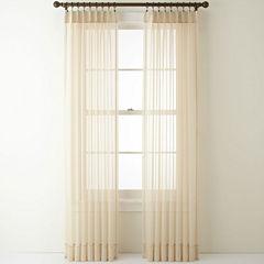 Liz Claiborne® Lisette Pinch-Pleat Sheer 2-Pack Curtain Panels