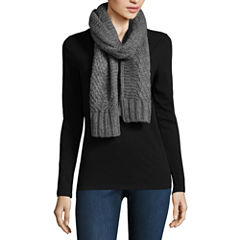 Libby Edelman Plaid Oblong Cold Weather Scarf