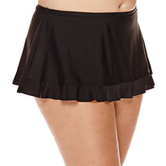Arizona Black Skirtini Swim Bottoms - Juniors Plus
