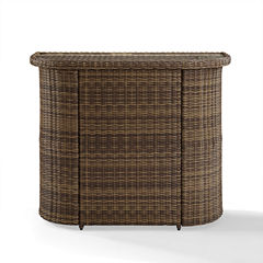 Crosley Bradenton Wicker Patio Bar