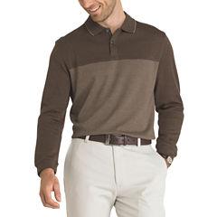 Van Heusen Long Sleeve Color Block Flex Polo