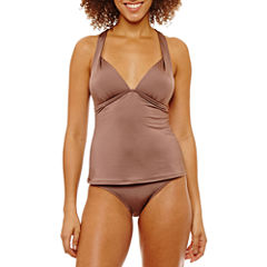 a.n.a Solid  Tankini Swimsuit Top or Hipster Bottom