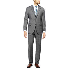 Stafford® 100% Wool Super 100s Gray Glen Check Suit Separates - Classic Fit
