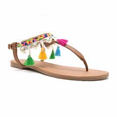 Qupid Womens Flat Sandals