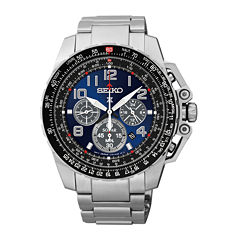 Seiko® Prospex Aviator Mens Stainless Steel Solar Chronograph Watch SSC275