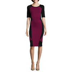 nicole by Nicole Miller® Elbow-Sleeve Colorblock Dress