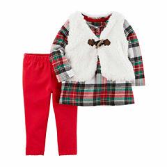 Carter's 3-pc. Plaid Pant Set Baby Girls
