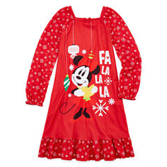 Disney Long Sleeve Minnie Mouse Nightshirt-Big Kid Girls