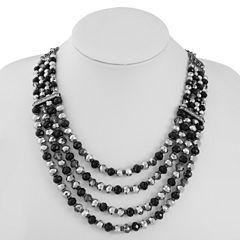 Liz Claiborne Black Beaded Necklace