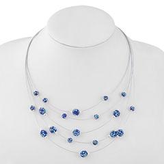 Liz Claiborne Womens Blue Illusion Necklace