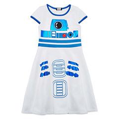 Short Sleeve Cap Sleeve Star Wars Skater Dress - Big Kid Girls