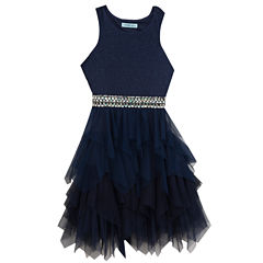 Rare Editions Embellished Sleeveless Party Dress - Big Kid Girls