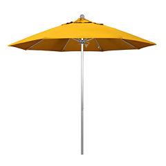 California Umbrella 9' Venture Series Pactifica Patio Umbrella With Silver Anodized Aluminum Pole Fiberglass Ribs Push Lift
