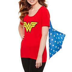 Wonder Woman Cape T-Shirt- Juniors