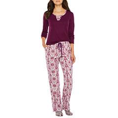 Liz Claiborne 2-pc. Pattern Pant Pajama Set