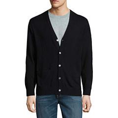 Claiborne V Neck Long Sleeve Cardigan