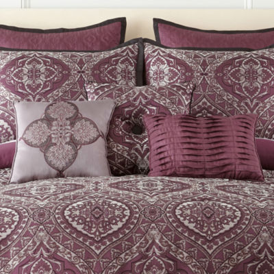 home expressions bristol 7pc comforter set - Purple Comforters